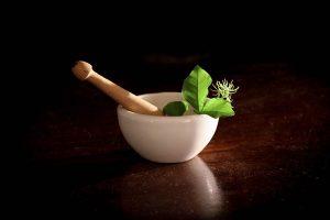 Mixing essential oils for homemade recipes.