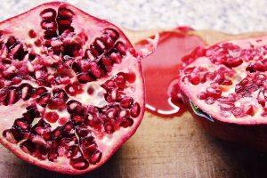 Sliced Pomegranate fruit