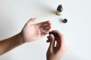 Essential oil being dropped
