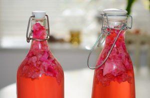 Rose Water in Bottles