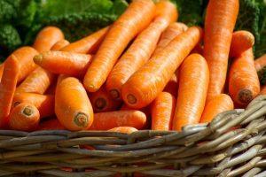 Carrots in a basket